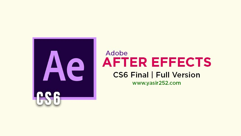 Download Adobe After Effects CS6 Final Windows Full Version